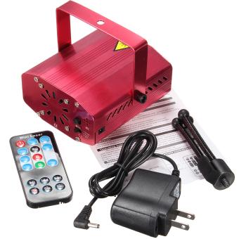 Mini memimpin tahap R&g proyektor laser pencahayaan lampu Natal pesta disko dj + remote kami- intl ...