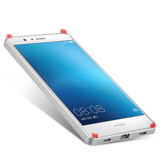 Harga Metal Aluminum Frame PC Back Case for Huawei P9 Lite P9 Mini (Silver)