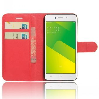 Flip PU Leather Cover Case For Oppo A37 / Oppo Neo9 (Red .