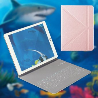 Harga OATSBASF 4mm Ultrathin Bluetooth Keyboard Leather Stand Case for iPad mini 4 3 2 1 - Rose Gold - intl