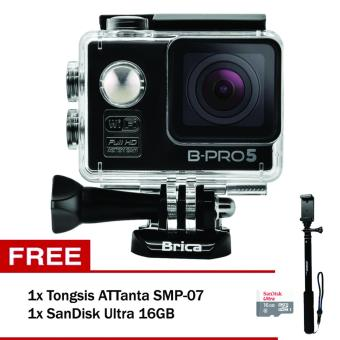 Harga Brica B-Pro 5 Alpha Edition 12 MP (Black) + Tongsis SMP-07 + SanDisk Ultra 16GB