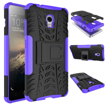 Harga TPU + PC Armor Hybrid Case Cover for Lenovo Vibe P1 (Purple)