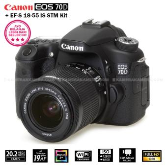 Harga CANON EOS 70D (WiFi) + EF-S 18-55 IS STM Kit 20.0MP 7.0FPS 19Point AF Full HD