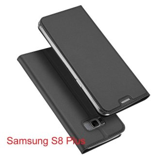 Harga New Crashproof Flip Leather Magnet Phone Case for Samsung S8 Plus - intl