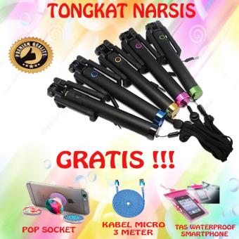 Promo Sale Tongsis Black Edition Tongsis kamera Action - Tongkat Narsis - Tongkat Selfie - Hitam