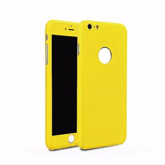 360 Degree Full Body Protect Hard Slim Case Cover with Tempered Glass for iPhone 5/5S/5SE - intl ...