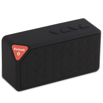niceEshop Wireless Stereo Bluetooth dtemani pembicara (Hitam)