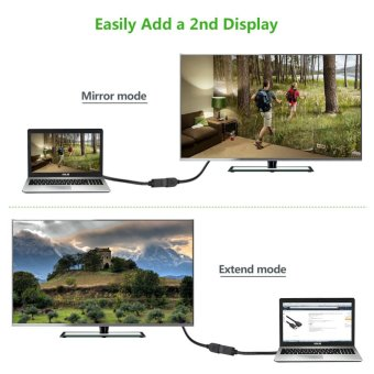 UGREEN 1m DisplayPort Male to Female Extension Cable Support 4K Resolution ( Black .