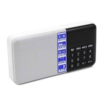 Harga HUAST Portable Mini Digital Media Wireless Speaker with FM Radio USB Micro SD Slot Clock Display (White)