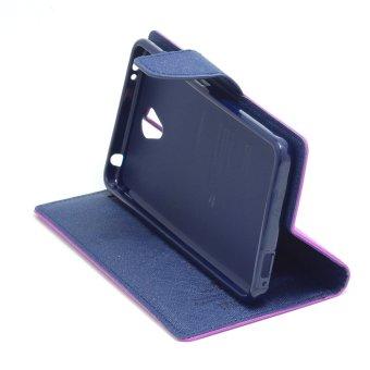 Goospery Mercury Wallet Flip Case Fancy Diary Xiaomi Redmi Note 2 Original Ungu .