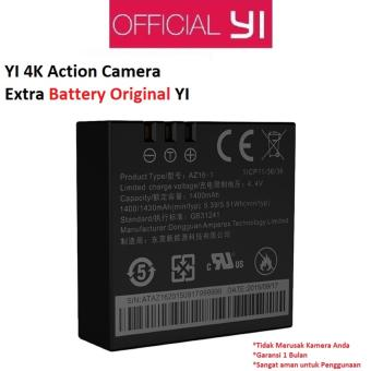 Harga Xiaomi Yi 4K Action Camera 2 Sport Kamera Extra Battery Original - Hitam