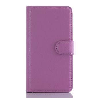 Harga Lychee Protective Leather Cover for Lenovo A6010 / A6010 Plus / A6000 Plus / A6000 (Purple) - intl