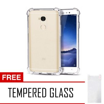 Harga Case AntiCrack / Anti Crack / Shock / Benturan Elegant Softcase for Xiaomi Xioami Xiomi Redmi 4 Prime / Pro + Gratis Free Tempered Glass