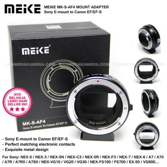Harga MEIKE MK-S-AF4 Mount Adapter for Sony E-Mount to Canon EF/EF-S