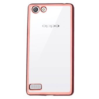 Case Ultrathin Shining Chrome Untuk Oppo Neo 7 / A33 - Rose Gold