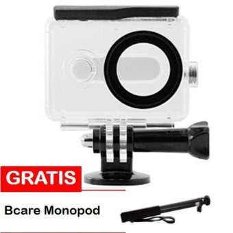 Harga Water Proof Anti Blur Case IPX68 40m for Xiaomi Yi Sports Camera - Hitam + Bcare Monopod
