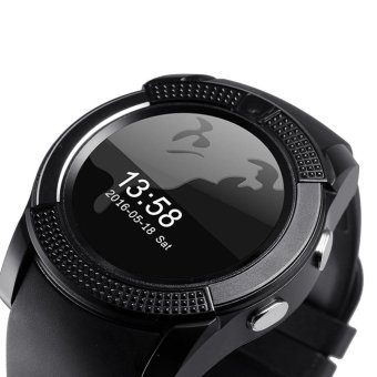 Harga V8 Smart Watch Wacht Clock With Sim TF Card Slot Bluetooth Connectivity for iPhone Android xiaomi Phone pk GT08 DZ09 - intl