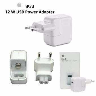 Harga Apple Charger iPad 12W Original for iPad 2/iPad 3 /iPad /iPhone4/iPod Touch/iPod nano- Putih