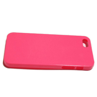 Harga Plastic Phone Back Case for iPhone 5 5S (Dark Pink)