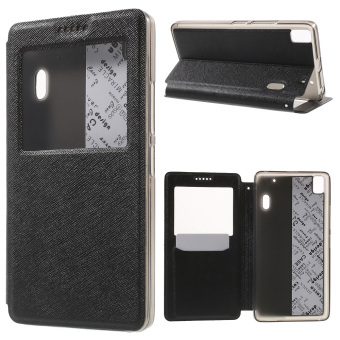 Cross Texture Window Leather Stand Case for Lenovo A7000 / A7000 Plus/ K3 Note K50