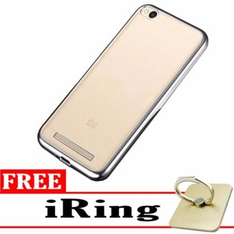 Softcase Silicon Jelly Case List Shining Chrome for Xiaomi Redmi 4A - Silver + Free Tempered