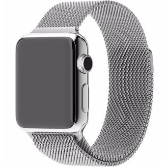 Harga New Milanese Loop Watch Strap For Apple Watch Band 42mm Silver link bracelet Stainless Steel Woven iwatch watchband - intl