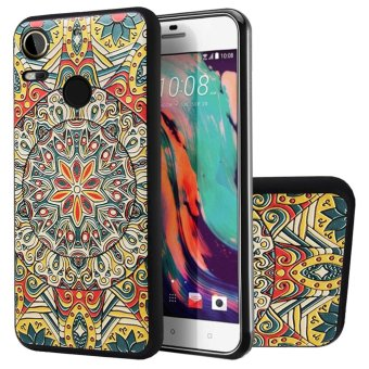 Harga Soft TPU Case For HTC Desire 10 Pro Totem Flower 3D Embossed Painting Series Protective Cover - intl
