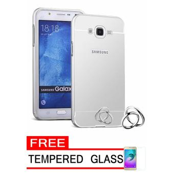 Case Metal for Samsung Galaxy J1 Mini Prime Aluminium Bumper With Mirror Backdoor Slide - Silver