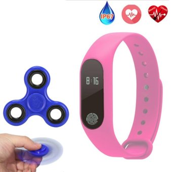 2017 New M2 Smart Bracelet Heart Rate Monitor Bluetooth Smartband Health Fitness Tracker Smart Band Wristband for Android iOS - intl