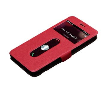 Harga Leather Cover for Lenovo Phone S850 S850T (Red)