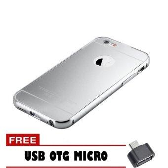 Jual Case Metal Aluminium Bumper Mirror For Iphone 5 Rose .