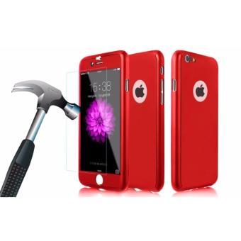 ... Hardcase Case 360 Iphone 6 6s Casing Full Body Cover Merah Free Tempered