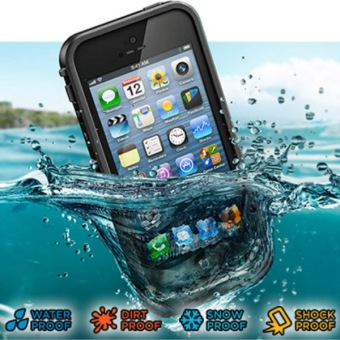 Harga Waterproof Protective Case Super Quality Ultra-slim Design for iPhone 5/5S/SE - Black