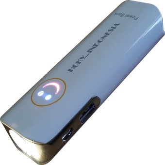 Harga Hoky Power Bank Senter 9800 mAh - Putih