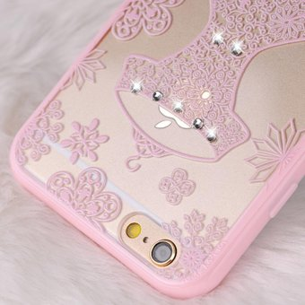 Mooncase Case For Apple iPhone 6 / 6s Rhinestone Soft TPU Bling Glitter .