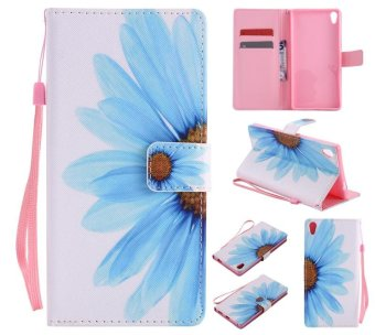 Colorful Pattern Sunflower Card Slot Wallet PU Leather Stand Flip Case Cover for Sony Xperia XA ultra Case - intl ...