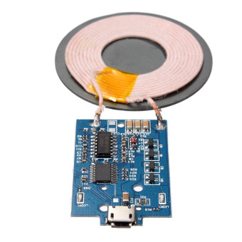 Harga Qi Wireless USB Charger PCBA Circuit Board + Coil DIY For iPhone Nexus 5 LG DIL