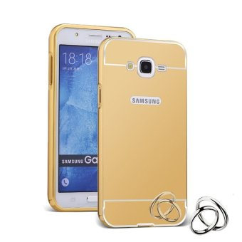 Harga Case Samsung Galaxy V Plus Bumper Metal + Back Case Sliding - Gold