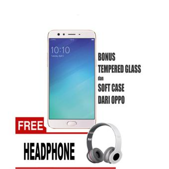 OPPO F3 Smartphone (64GB/ RAM 4GB) - Rose Gold Free Headphone