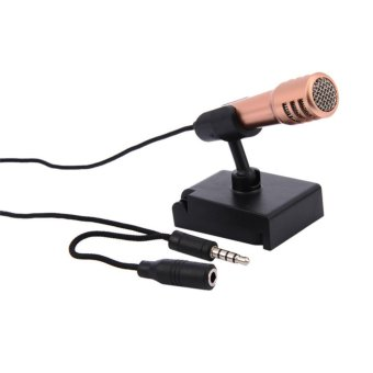 Fashion 3.5mm Mini Smartphone Microphone Wired Stereo Condenser Mic For IPhone Android PC Laptop Chatting