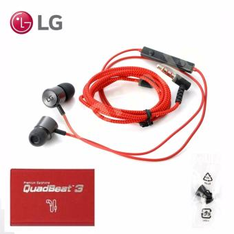 Harga LG QuadBeat 3 HSS-F630 in-Ear Premium Earphone for G3/G4/G5 - Merah
