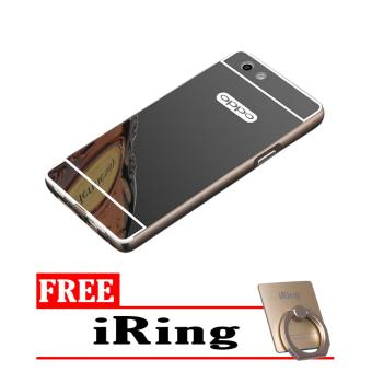 Case Metal for Oppo F1s (A59) Aluminium Bumper With Mirror Backdoor Slide - Black
