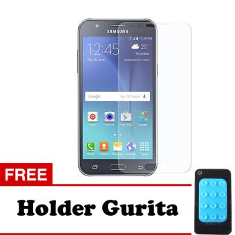 Tempered Glass Samsung Galaxy J7 2016 Screen Protector - Putih Transparant + Free Holder Gurita