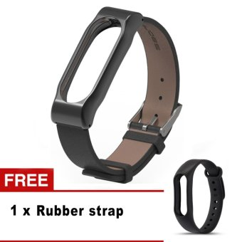 Harga Replacement Luxury Genuine Leather Band Strap For Xiaomi Mi Band 2 Smartband Bracelet Whatchband For Mi Band 2 - intl