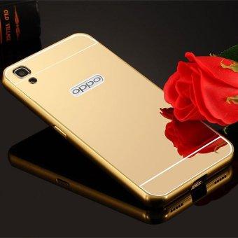 Slide Rose Gold Free Iring Termurah Case For Oppo F1s Aluminium Bumper With Mirror Backdoor Source