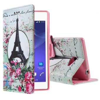 Harga Flip Leather Cover for Sony Xperia M2 D2303 D2305 M2 Dual D2302 .