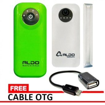 Harga Aldo Powerbank 5600 mAh Original Free Cable OTG