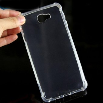 Softcase Anti Shock Anti Crack For Samsung Galaxy A7 2017 Putih Transparant Free .