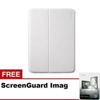 Harga CAPDASE Case Samsung Galaxy TAB 3 10 Folder case FLIP JACKET - White + Gratis ScreenGuard Imag