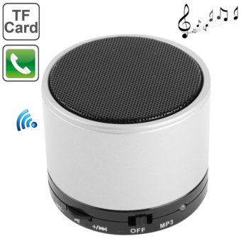 Harga Speaker S10 Mini Bluetooth Speaker with Built-in Rechargeable Battery (Silver)